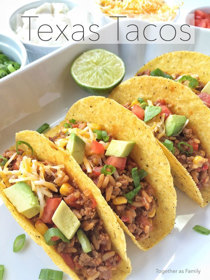 TEXAS TACOS | a yummy, hearty, and fun twist on the traditional taco! http://www.togetherasfamily.com