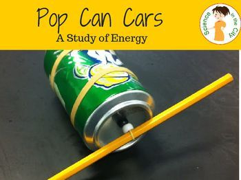 Potential and Kinetic Energy Hands-on Science lesson plan. Includes teacher directions, student directions and follow up questions. This is a memorable activity that students love. Uses basic household supplies to create a pop can 'car', clearly demonst