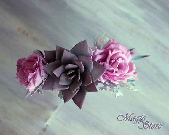 Pink floral headband Bridal headpiece Baby floral Halo first