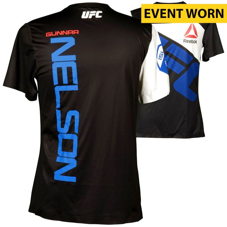 Gunnar Nelson Ultimate Fighting Championship Fanatics Authentic UFC 189 Mendes vs. McGregor Event-Worn Walkout Jersey - Defeated Brandon Thatch via First Round Submission - $599.99