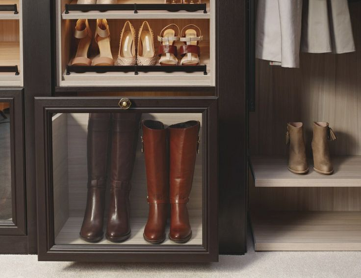 Boots Are Kept Safe And Out Of The Way, But Still Visible, With CA Closets  Boot Drawers