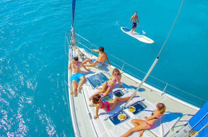 Half-Day Luxury Sailing Cruise in Freeport Experince luxury and relaxation onboard a magnificent 50-foot sailboat. Designed for smooth sailing and comfort along with modern facilities, this unique all-inclusive adventure allows you to explore the Caribbean in styleWhether you are a seasoned sailor or someone looking to try sailing for the first time, thisluxury sailing experience is like no other. With more than 15 years of experience taking guests sailing, the expert cr...
