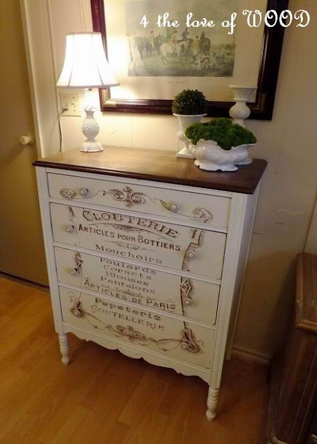 furniture refurbishing ideas. Great Redone Piece Of Furniture. 4 The Love Wood: ARTICLES DE PARIS - French Dressing Chest Furniture Refurbishing Ideas T