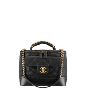 Chanel Black Vanity Case Bag