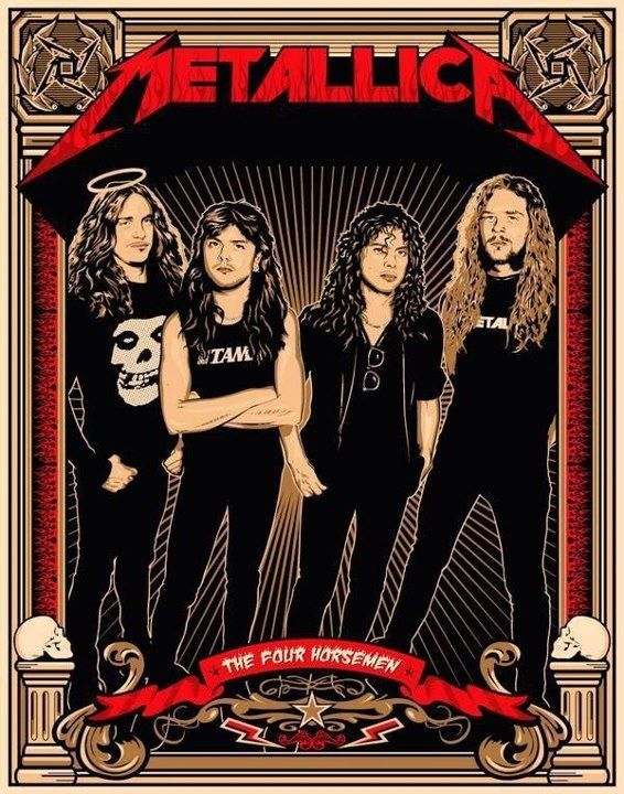Metallica  Classic heavy metal rock psychedelic music poster  ☮~ღ~*~*✿⊱  レ o √ 乇 !! ~