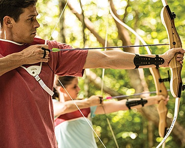 Go Wild at Four Seasons Resort Langkawi, Malaysia. Rock climbing and archery in a UNESCO rainforest. #archery #resorts #rockclimbing #holidays #fourseasons
