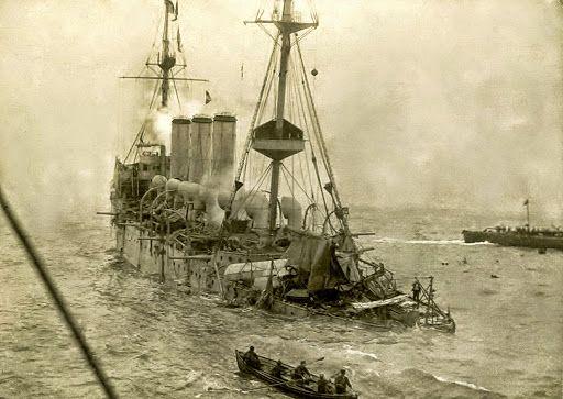 Resultado de imagen de HMS Hermes 1914
