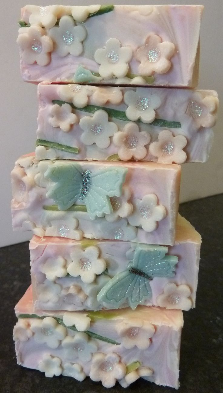 Apple Blossom a OOAK soap batch made for a customer