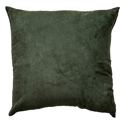 Suede-Look Cushion Cover     was $6.99 now $3.49 Dark Sage, Porcelain Blue, Espresso, Deep Red, Ivory