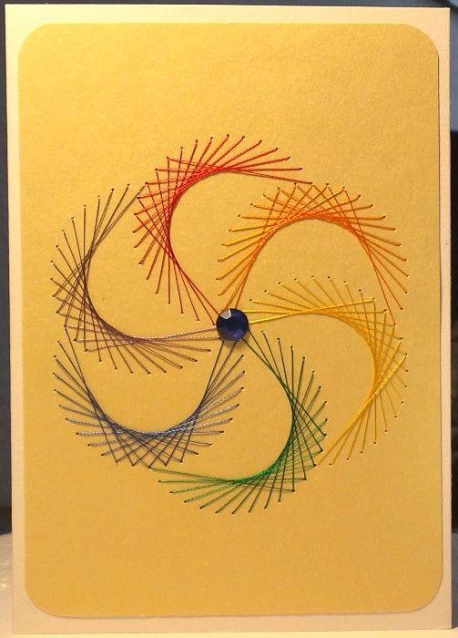 Regenbogenblume Nr. 12 -  Doppelkarte mit Umschlag im Format A6
