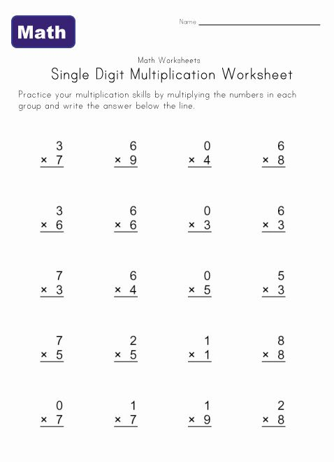 Math Worksheet Generator : Basic multiplication worksheet generator
