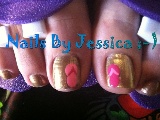 Flip-Flop Pedicure - Nail Art Gallery by NAILS Magazine