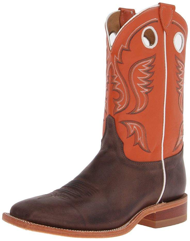 Justin Men's Burnished Orange Cowboy Boot Square Toe - Br314 >>> Review more details here : Boots for men