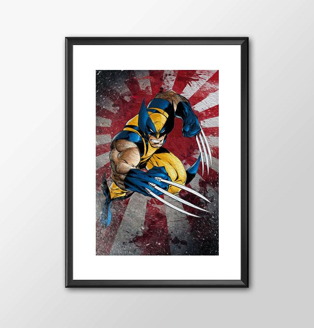 The Wolverine - Digitally Painted Tribute - Buy 2 get 1 Free by ShamanAlternative on Etsy