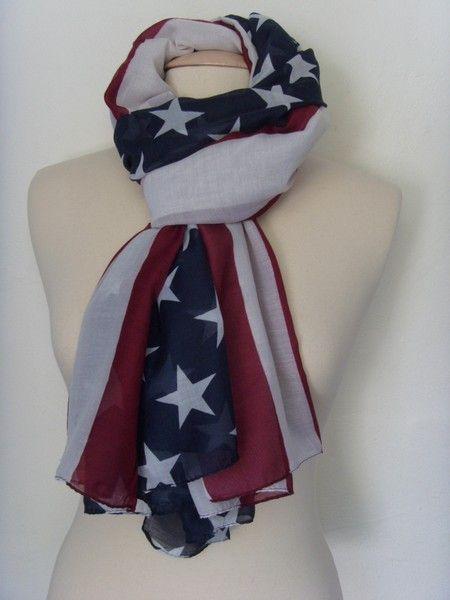 Un chèche drapeau américain - plusieurs modèles chez www.cetaellecetalui.com