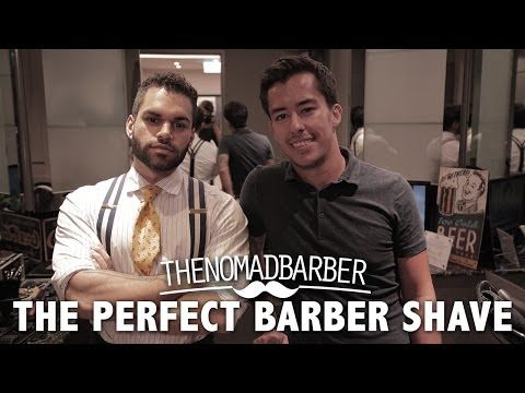 The Perfect Barber Shave (The Nomad Barber) - YouTube