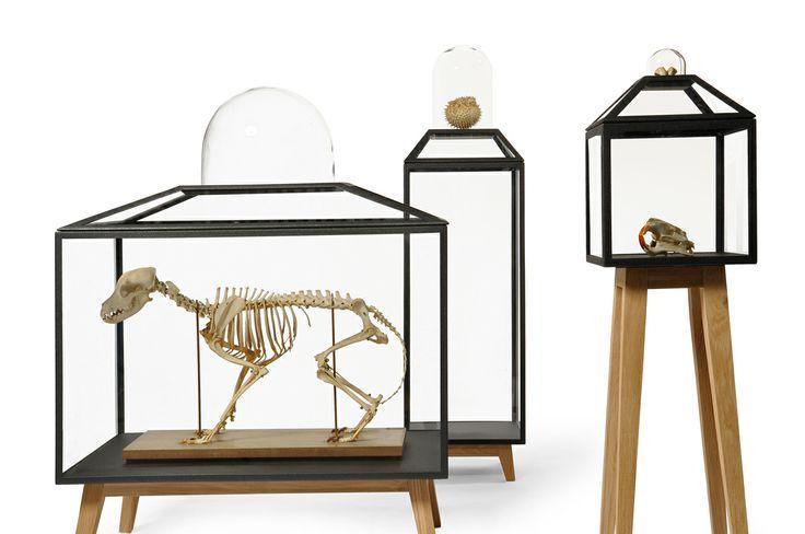 STEEL CABINETS van JSPR. Een unieke serie van zeven handgemaakte vitrines met wel héle bijzondere vormen. Stuk voor stuk bieden ze een fantastische plek om je meest dierbare bezittingen tentoon te stellen. Wij zouden willen dat er een Steel Cabinet komt om een Steel Cabinet in te zetten, zó mooi vinden wij ze: http://www.gimmii.nl/ontwerper/jspr/