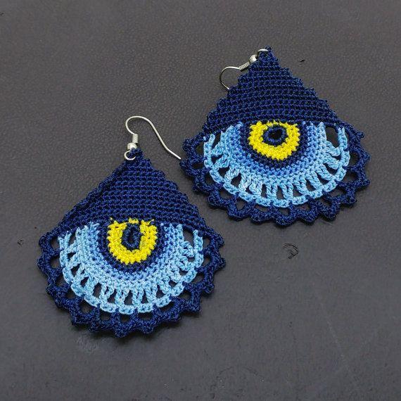 Crochet earrings Summer earrings Dangle earrings by NazoDesign