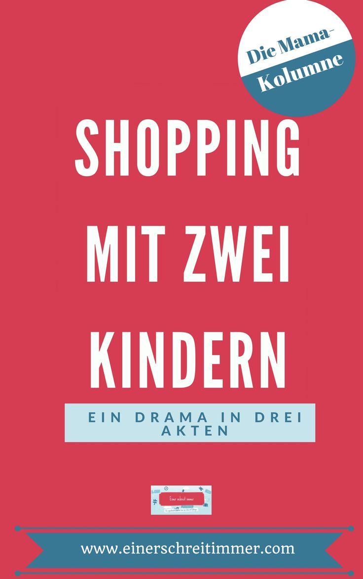 Shopping mit zwei Kindern? Das ist eine Herausforderung. Ganz besonders mit Zwillingen. Wie du den Einkauf mit zwei Kindern mit Humor nehmen kannst, das liest du am besten in unserer Mama-Kolumne. #kolumne #satire #glosse #mamablog #einerschreitimmer