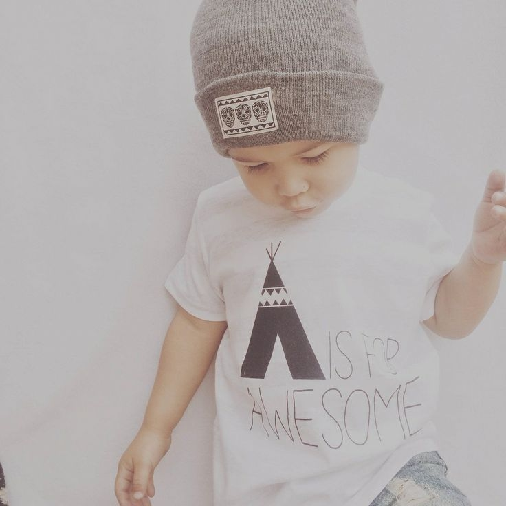 A is for AWESOME tee by Dear Cub