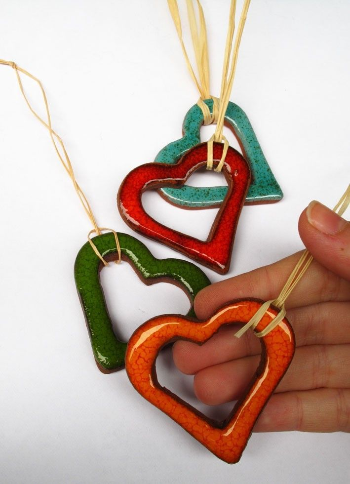 Colorful Christmas Heart Decorations Ornaments by mychristmastree
