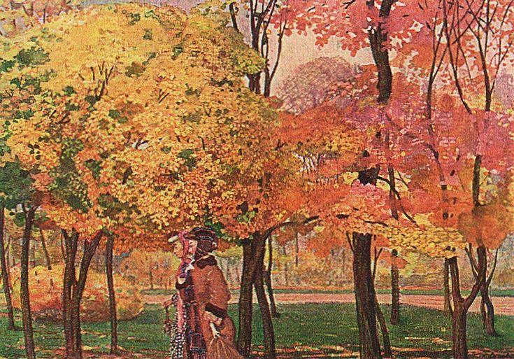 Automne, 1905 de Konstantin Somov (1869-1939, Russia)
