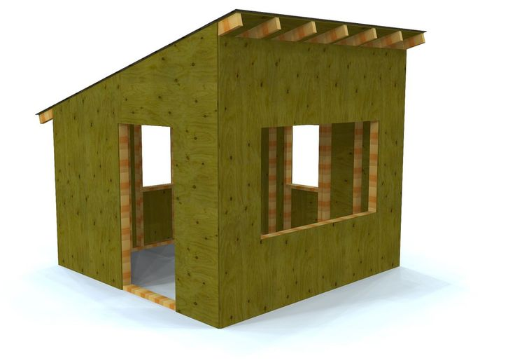 8 X 8 Paul's Outdoor Hideaway | Free Playhouse Plan