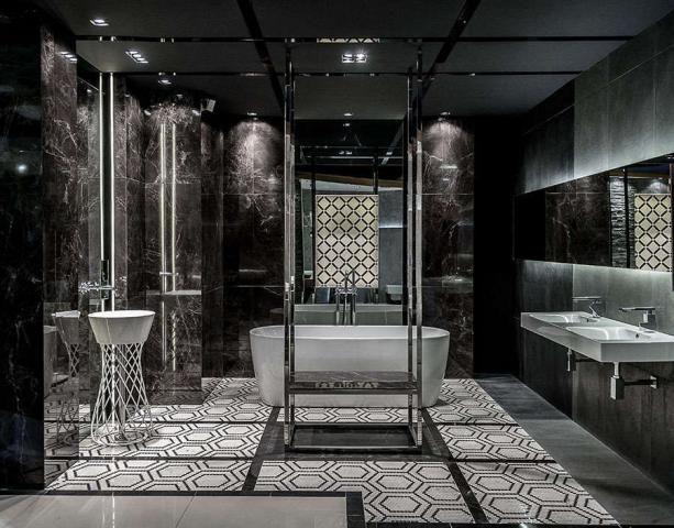 marmurowa łazienka ekskluzywna z wanna
