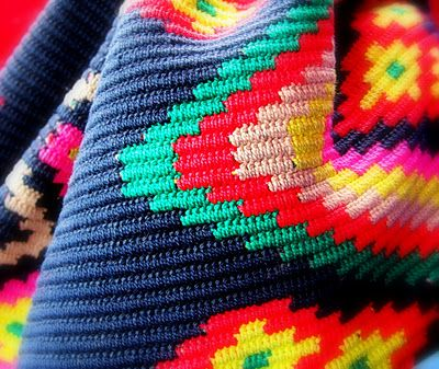 beautiful pattern from Wayuu bag