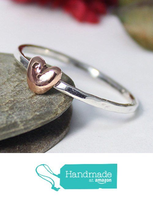 Little Copper Heart Stacking Ring, Statement Ring, Tiny Copper Heart Silver Band Ring, Silver Stacking Ring, Simple Ring, Hammered Ring, Heart Ring from rosajuri https://www.amazon.com/dp/B071WS5PBD/ref=hnd_sw_r_pi_dp_RHzwzbWFJC0KD #handmadeatamazon