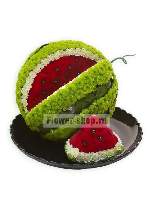 Композиция Арбуз из коллекции цветов на Flower-shop.ru. 100% гарантия свежести! Заказ в 1 клик! Доставка цветов по Москве бесплатно.