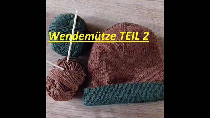 154*Wendemütze zweifarbig stricken*Teil. 2*Tutorial Handarbeit