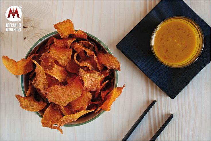 Chips di zucca in salsa agrodolce