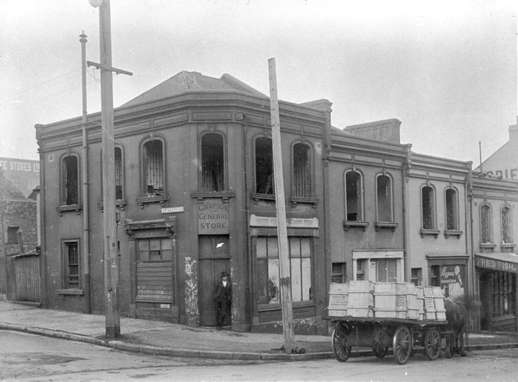 Looking S towards SE corner of Cumberland Street and Argyle Street.  ADDRESS	 18 - 24 Argyle Street. 20 June 1922 NSCA CRS 51, Demolition books, 1900-1949 City of Sydney Archives