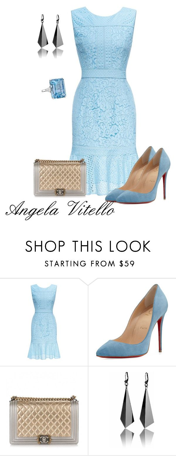 """Untitled #808"" by angela-vitello on Polyvore featuring Christian Louboutin, Chanel and Betteridge"