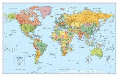 Rand Mcnally Signature World Map Giant Poster at Art.com