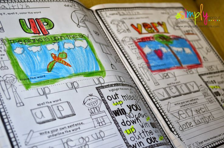 Creative classroom and homework Ideas for sight words and spelling words. Wonders Reading series. Create your own Interactive Spelling notebook ~ Simply Sprout