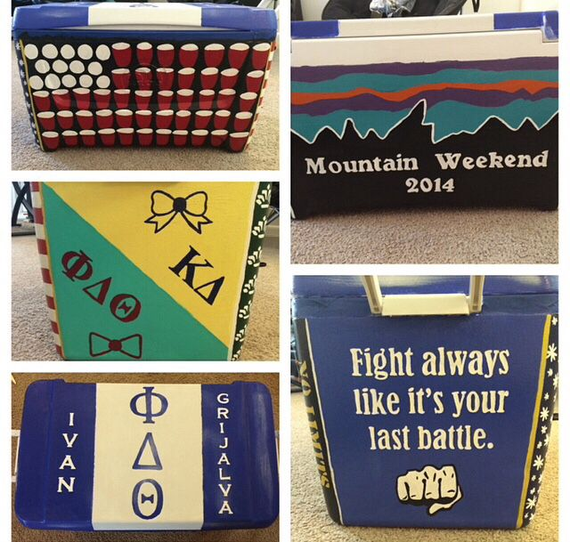 Phi Delta Theta Mountain Weekend cooler