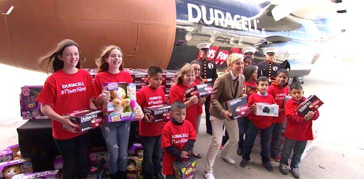 Power of a Smile Program donates 1 million batteries to power kids toys www.lifeminute.tv/entertainment/video/ellen-degeneres-joins-duracell-donate-1-million-batteries-toys-tots