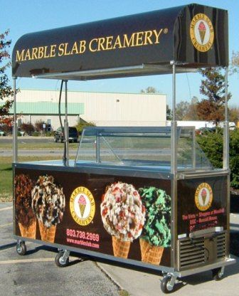 Marble slab creamery mobile cart    www.turnkeyparlor.com