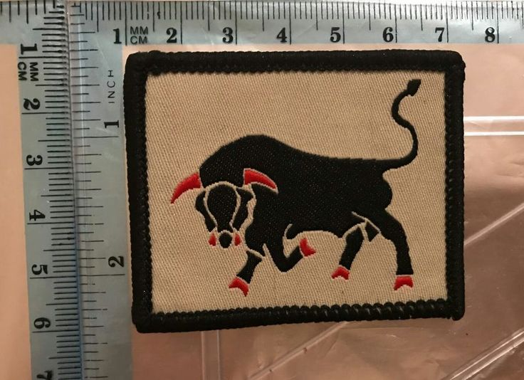 Fighting Bull  Biker Motorcycle  Embroidered Badge Sew Or  Iron On Patch N-721