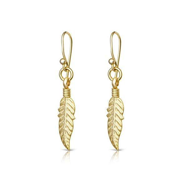 Feather Earrings Jewelry Gifts Feather Earrings Sterling Silver Earrings Studs Leverback Dangle Earrings