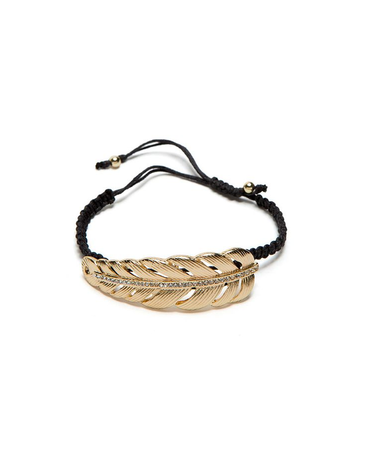 Golden Feather Bracelet
