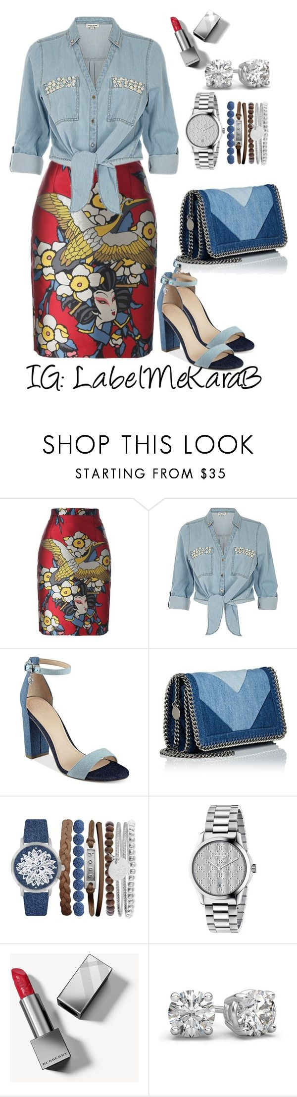 """KB020"" by labelmekarab on Polyvore featuring Dsquared2, ZAK, GUESS, STELLA McCARTNEY, Jessica Carlyle, Gucci and Burberry"