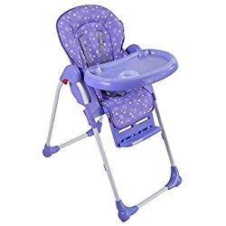 Costzon Adjustable Baby High Chair Infant Toddler Feeding Booster Seat Folding (purple)