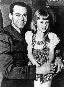 Jane Fonda with dad Henry ~ 1943