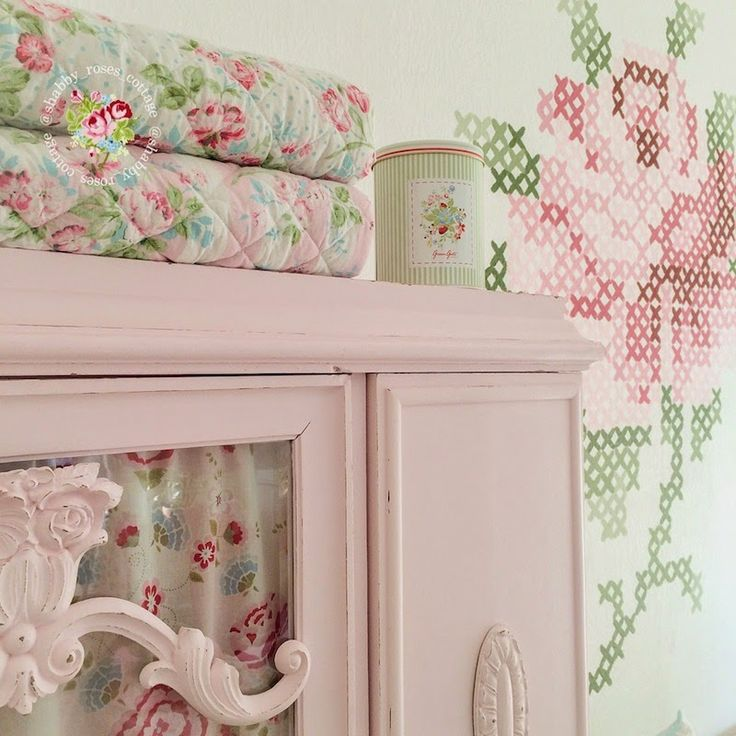 @ Shabby Roses Cottage: Cross-stitch wall art