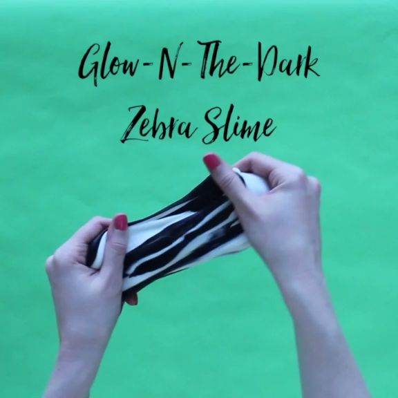 Glow-N-The-Dark Zebra Slime