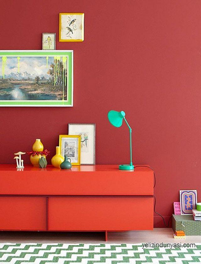 25 besten Wandfarbe ROT Bilder auf Pinterest Wandfarben
