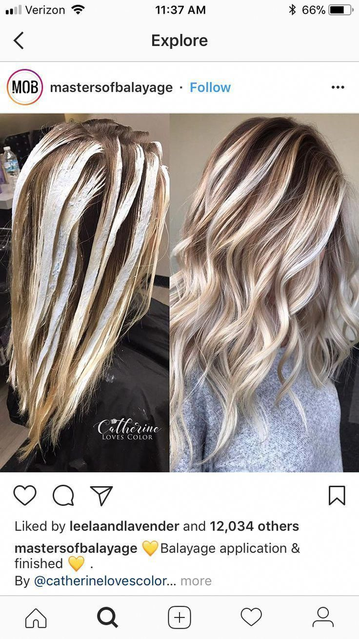 Bright shiny chunks with chunks of copper brown added. #balayagehairblonde # Braids styles latest